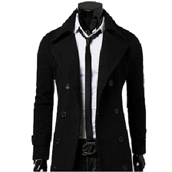best selling Fall-Fashion New Brand Mens Winter Trench Coats Overcoats Duffle Coat Men Winter Jacket Peacoat manteau homme High Quality