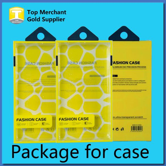 Universal Mobile Phone Case Package PVC Plastic Retail Packaging Box with Inner Insert for iPhone Samsung HTC Cell Phone Case Fit 5.7 inch