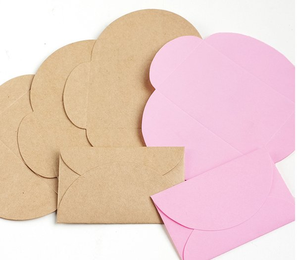 100pcs/lot 9*6cm Retro Colored Kraft Paper Envelopes Mini Series Card Envelope Wedding Party Invitation Gift Card