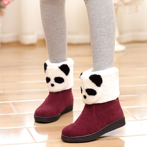 Children'S Winter Snow Boots Cute Panda Girls Junior High School ...