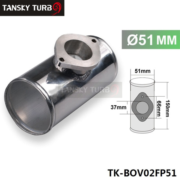 """best selling High Quality 51MM 2"""" ALLOY T PIECE PIPE Fit For GReddy RZ and RS BOV TK-BOV02FP51"""