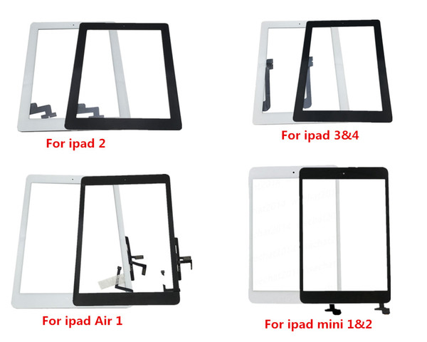 Home Replacement For iPad 2 3 4 Air 1 mini 1 2 Digitizer Glass Touch Screen