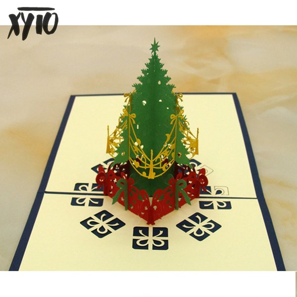 Christmas Tree Cards Designs.New 3d Gift Cards Christmas Card Pop Up Folk Art Gift Greeting Cards 3d Christmas Tree Card Christmas Gift Souvenirs Postcards Buy Printable Gift