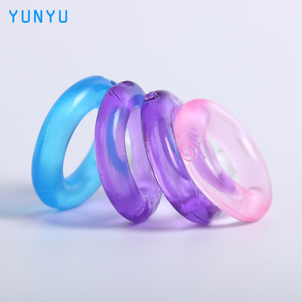 4 pcs Silicone Time Delay Penis Ring Cock Rings Adult Products Male Sex Toys Crystal Ring Color Random q1107