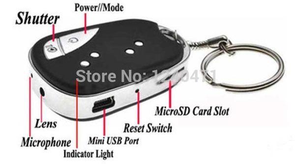 1pcs new Car Keychain 909 HD Mini Camcorders micro camera Surveillance Camera recording car camara drop shipping