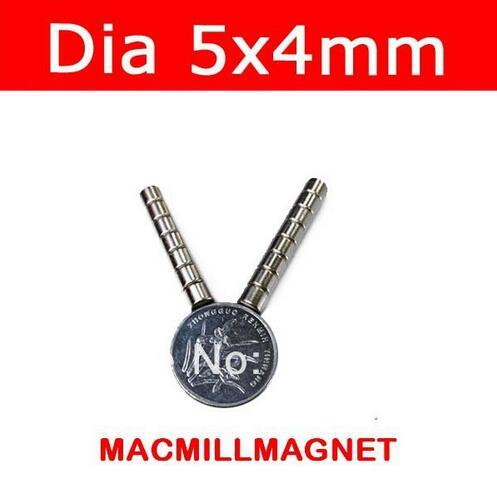 Brand New Mini small Disc Rare-earth Neodymium super Strong Permanent Magnet 100pcs/pack Dia5x4mm, Free Shipping