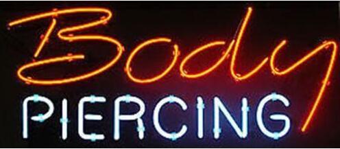 Пирсинг магазин неоновая вывеска свет коммерческий пользовательский знак магазин дисплей реальная стеклянная трубка бар дискотека КТВ мотель знак свет Flashlamp 17