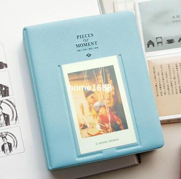 Azul instax mini 7 s 8 25 50 s instant photo album 64 filmes para fujifilm polaroid camera frete grátis