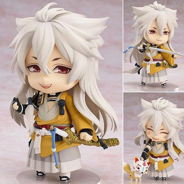 Figurita de Anime japonés Cute Nendoroid muñeca Touken Ranbu Online Kogitsunemaru Figura de Acción Modelo de Juguete 4