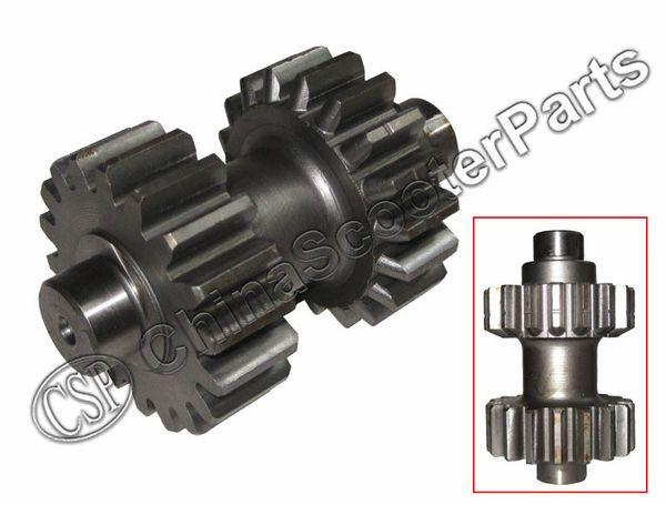 Wholesale- 18 19 teeth Double Gear For Kazuma Dingo Falcon Redcat Cougar Gator 250cc ATV Reverse gear box