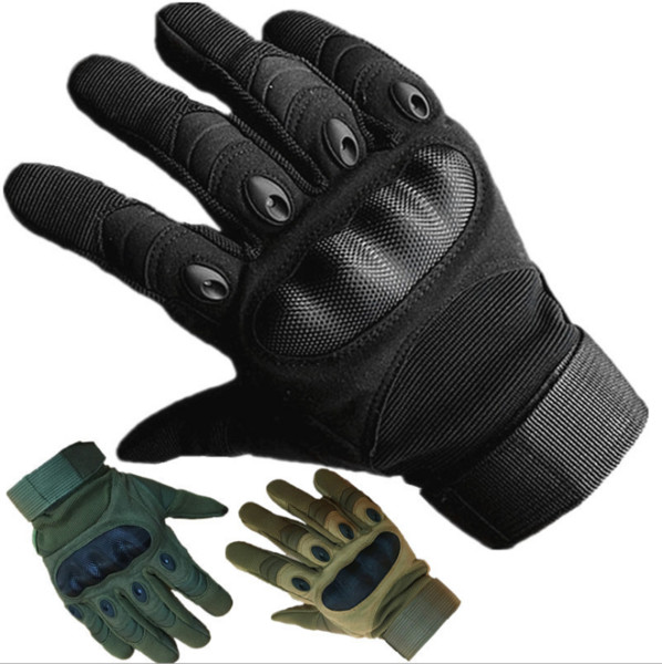 Army Gear Tactical Gloves Men Outdoor Sport Full Finger Combat Military Gloves Militar Carbon Shooting Training Paintball Gloves SC069