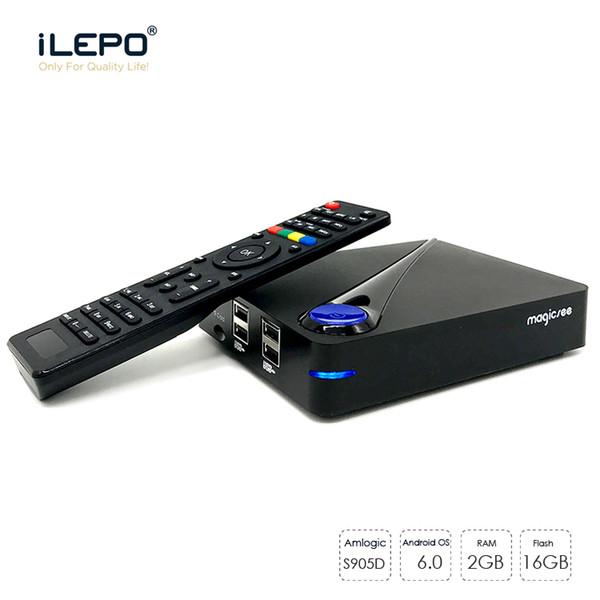 Magicsee DVB S2 T2 Android 6.0 TV Box Amlogic S905D Quad Core 2GB 16GB Media Player Wifi H.265 4K 1080P DLNA Digital Video Receiver