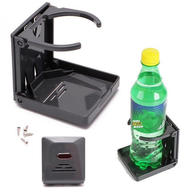 best selling Mayitr Car Styling Universal Folding Cup Holder Black Multifunctional Adjustable Fold Drink Bottle Stand Mount for Car Boat RV