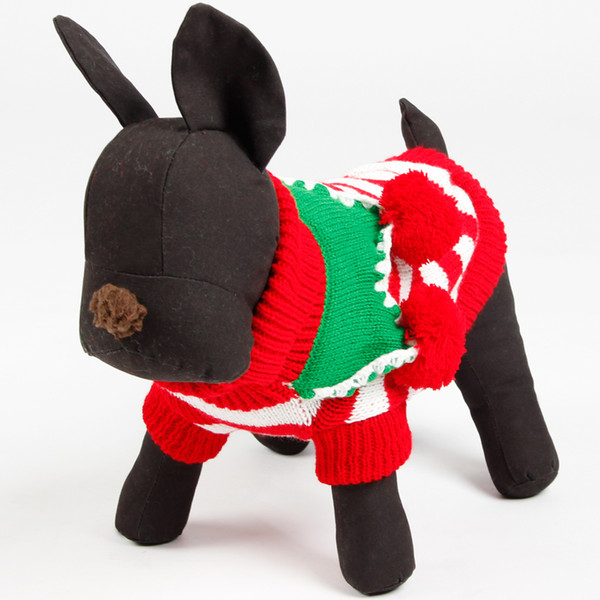 Wholesale-Freeshipping Edelweiss Collar Sweater Clothes Pet Warm Clothes Teddy Sweater Bichon Autumn and Winter For Small and Medium Dog