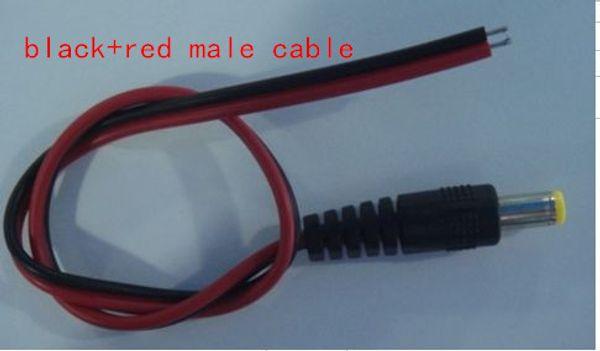 Dhl-freies verschiffen 30 cm 12 V DC Power Adapter männlich weiblich Kabel 5,5 X 2,1mm CCTV Kamera Power Stecker Draht DC männlichen Netzkabel