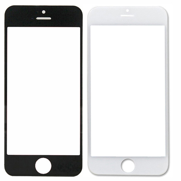 For iphone 5/5C/5S 4G/4S Front Outer Screen Glass Lens Cover Replacement Parts Free shipping