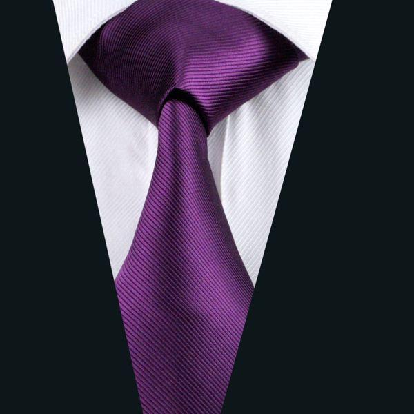 Business Purple Ties Classic Jacquard Woven Silk 8.5cm Width Formal Work Suit Neck Tie D-0860