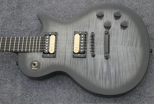 Livraison gratuite gris standard touche ébène guitare électrique, manche en acajou guitare std-20