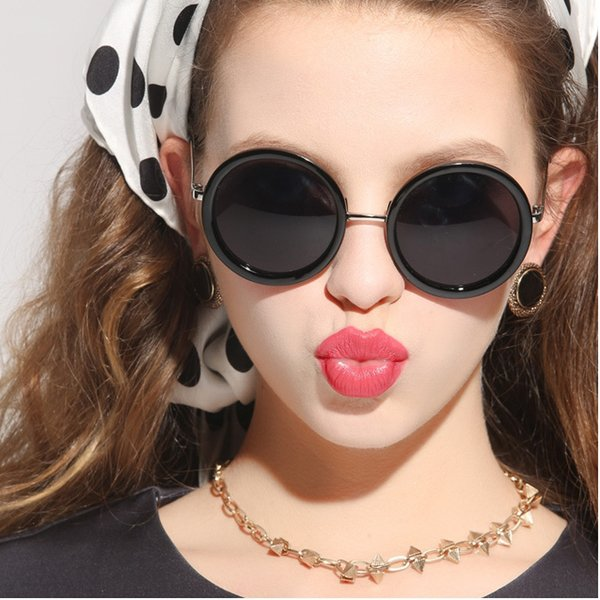 shades for women  Mirror Round Sunglasses Women Vintage Multi Color Glasses Female ...