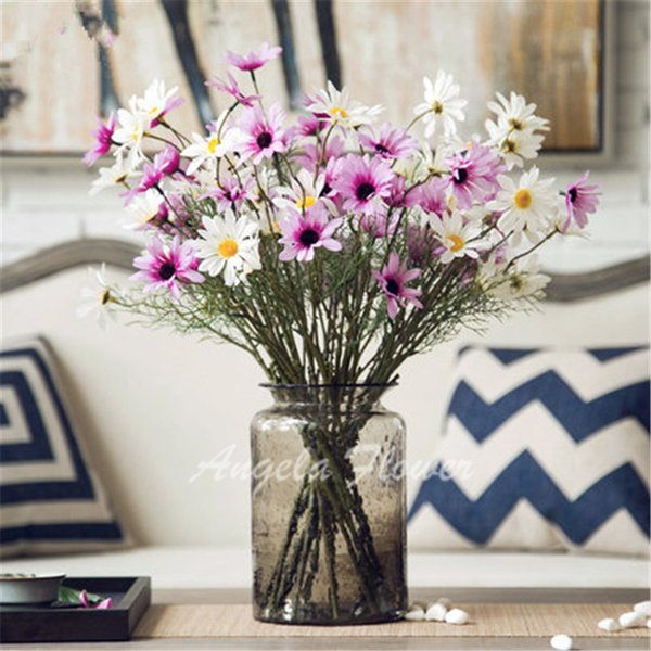 2015 New Artificial High quality real look 4 color Daisy Flowers country style Decoration for table home vase living room