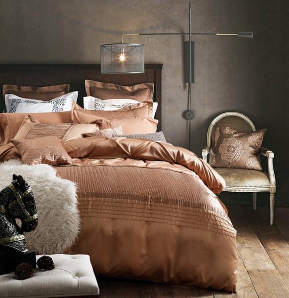 Großhandel Designer Luxus Bettwäsche Set Tagesdecken Baumwolle Seide