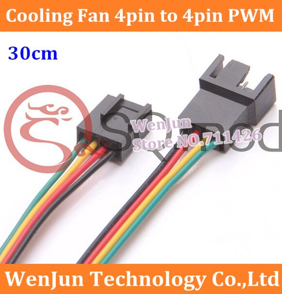 PC компьютер вентилятор охлаждения 4-контактный 3pin/4pin ШИМ конвертировать разъем удлинительный кабель 30 см высокое качество заказа$18no трек