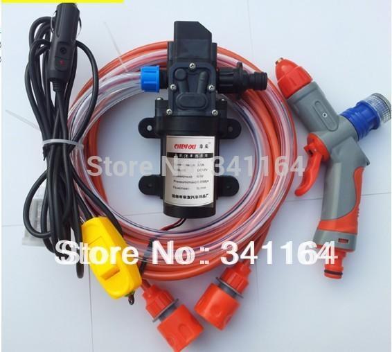 Lavadora de alta presión del dispositivo eléctrico del coche 60w lavadora portátil de alta presión bomba de lavado de autos 12v trainborn set 106c220