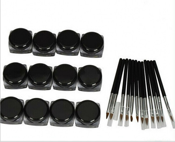 girl good item 180pcs/lot Hot selling Waterproof eyeliner pencil black liquid Eyeliner
