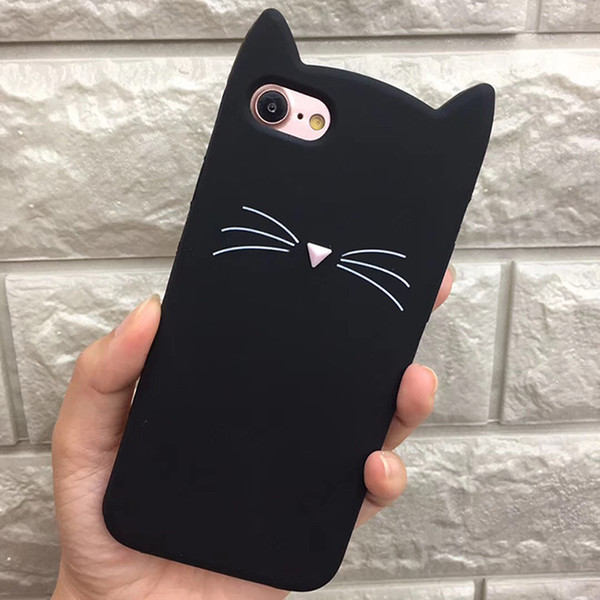 For iPhone X 8 7 7Plus 3D Cute Cat Cute Silicone Soft Cover for Apple iPhone 6 6s Plus 5 5s SE New