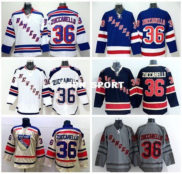 buy online 12355 aec84 Factory Outlet, Wholesale 36 Mats Zuccarello Jersey New York Rangers Hockey  Jerseys Zuccarello Stadium Series Winter Classic Blue White Beig