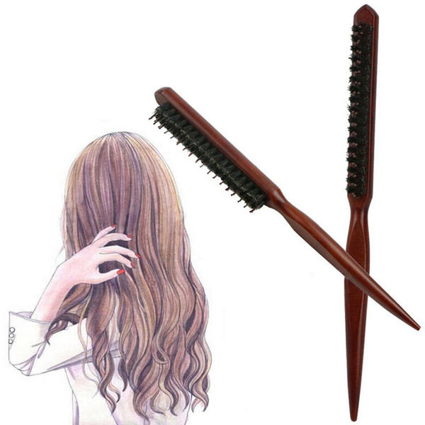 Professional Salon Teasing Back Hair Brushes Slim Line Comb Hairbrush Extension Hairdressing Styling Tools