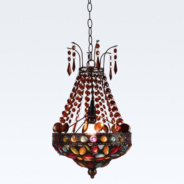 Bohême Perles Balcon Pendentif Lampe Classique Vintage Salle À Manger Cuisine Pendentif Lumière Corridor Entrée Pendentif Lumières