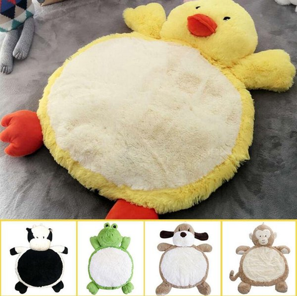 Child Climb Pad 90*60cm Cute Dog Animals Plush Baby Play Mats Kids Gym Mat Children Developing Carpet Toy OOA3667