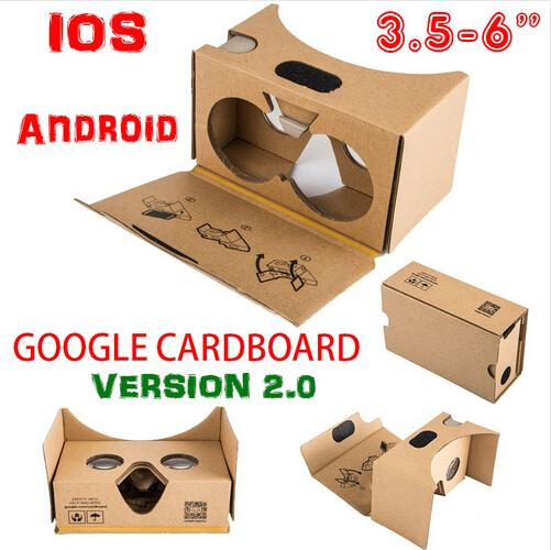 Newest Google Cardboard 2.0 V2 3D Glasses VR Valencia Quality Max Fit 6 Inch for Smartphone IOS Android iphone 6 6S plus 5S S6 edge DHL