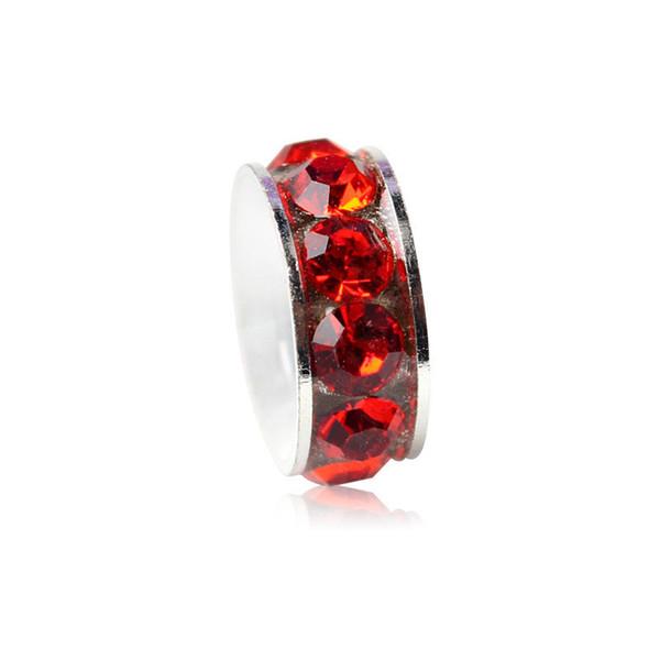 Red Space Charm Bead With Crystal Rhinestone Big Hole Fashion Women Jewelry European Style For Pandora Bracelet