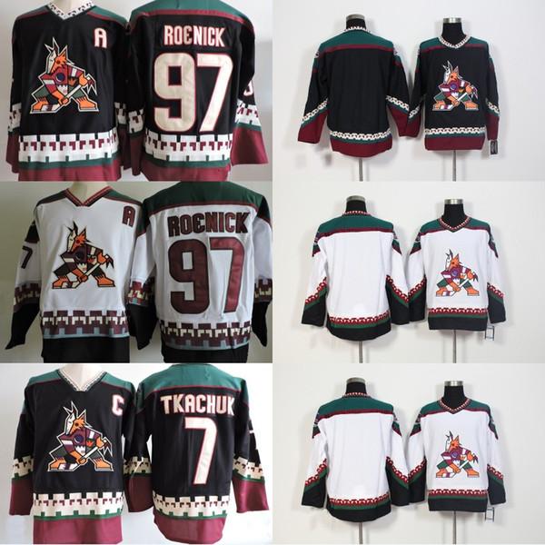 huge selection of 19a5b 4c6d8 2019 Phoenix Coyotes Vintage Jersey 7 Keith Tkachuk 97 Jeremy Roenick Blank  Starter 90s White Black Aztec AZ VTG Ice Hockey Jerseys From Felixtrade, ...