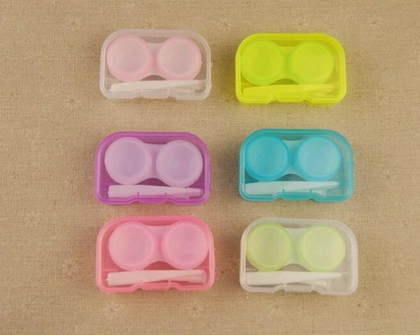 2016 Best Price Color Contact Lens Case 6 Color Freshloo Contact Lens Box with Clip and matching color box