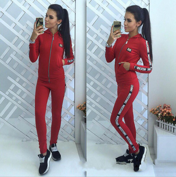 New Women active set tracksuits Hoodies Sweatshirt +Pant Running Sport Track suits 2 Pieces jogging sets free shipping