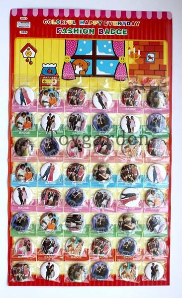 venda al por mayor las nuevas muchachas 240PCS como las insignias del perno de seguridad de 30MM, los regalos de los favores de partido de las broches envían libremente