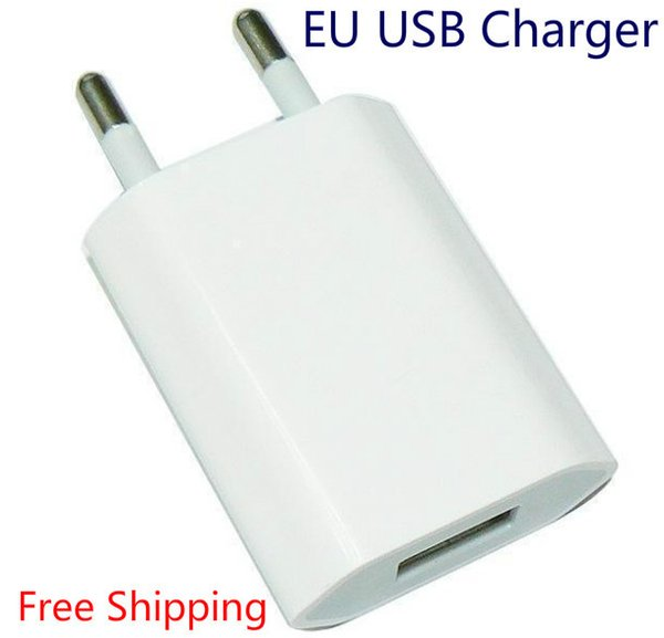 Wholesale New 2016 5V 1A EU AC USB Wall phone charger for apple iphone 5 5s iphone 4 4s samsung galaxy s4 i9500 s3 note 2 Free shipping