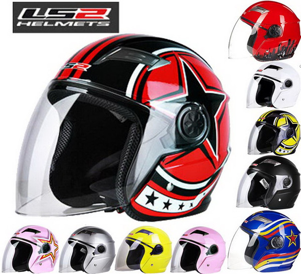 2016 New LS2 Half face motorcycle helmet ABS electric bicycle Motorbike helmets warm winter safety helmets men/women OF501
