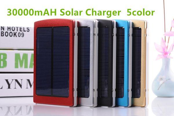 Portable solar battery charger 30000mah LED Darkening portable solar power bank solar SOS help for Mobile Phone Tablet MP4 30000 mah