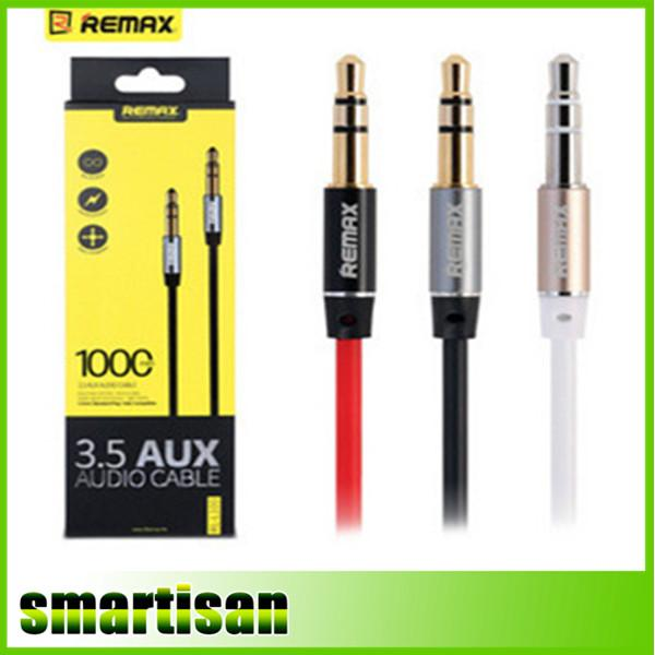 REMAX 3.5mm Aux Cable Audio 1m lunghezza audio cavo musicale per iphone ipod ipad mp3 mp4