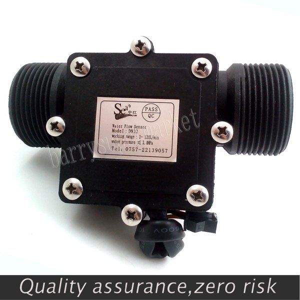 "Wholesale-G1-1/4"" 1.25 Water Flow Hall Sensor Switch Meter DN32 Flowmeter Counter 1-120L/min"
