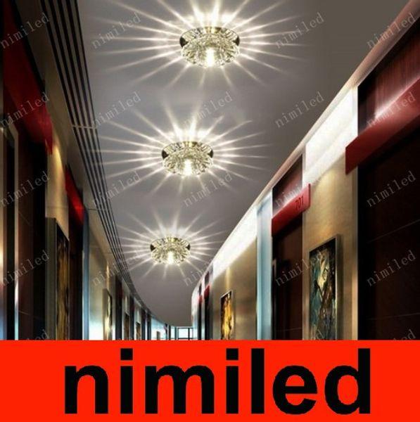 nimi544 3W LED Luces de pasillo de cristal Porche Iluminación Bar Corredor Balcón Foye Lámpara de techo Foco de downlight Proyector empotrado / montaje en superficie