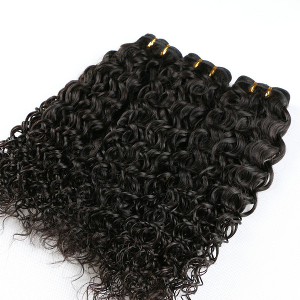 Peruvian Afro Jerry Curly Virgin Hair Grade 7A Real Human Hair Weave Kinky Curly Hair Extension Peruvian 4PCS Hair Bundle