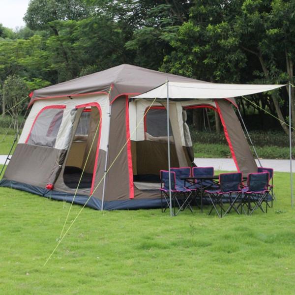 Großhandelszelt-Wochenende Feuerbeständiges 3-Personen-Campingzelt Wasserdichtes 3-Jahreszeiten-Außenzelt für Familien-Camping-Backpacking ZPJ8989