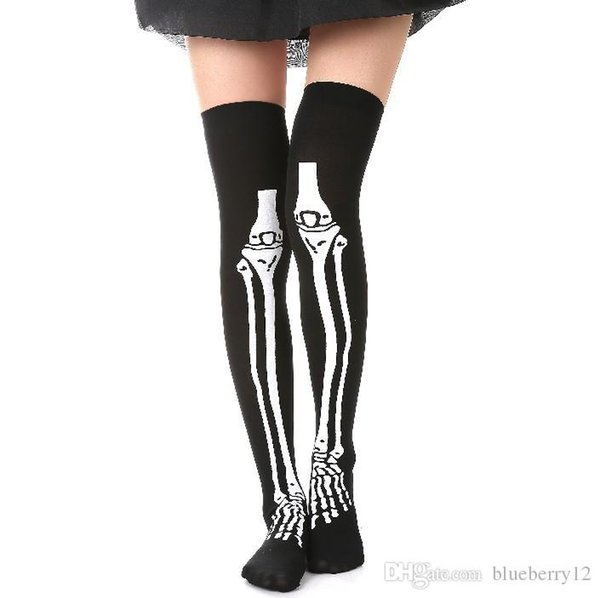 2017 halloween wear party women scary bleed or skeleton occupational stockings tights cosplay female costumes hosiery, Silver