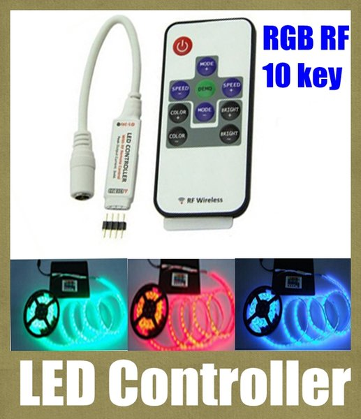 led controller wireless rf remote control rgb led controller programmable for remote controlled battery operated led light 10 key 12v DT005