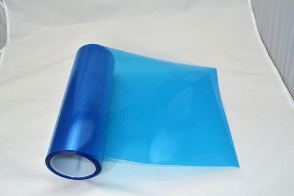0.3 * 10m rouleau PVC phare teinte bleu pour décoration de tête de voiture express livraison gratuite